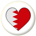 Bahrain Country Flag Heart 25mm Pin Button Badge